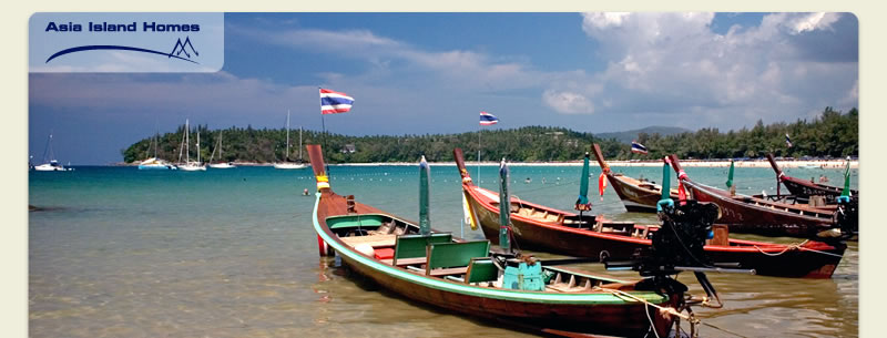 Longtail boats at Kata Beach, Phuket